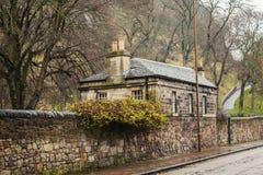 Quaint stone cottage. Image of quaint stone cottage in Edinburgh, Scotland Royalty Free Stock Photography