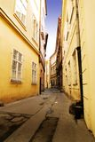 Quaint Straat Praag stock foto's