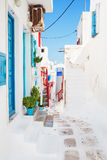 Quaint street in Mykonos, Greece. Royalty Free Stock Photography