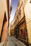 Quaint Street Prague. A quaint tiny alley (retezova) in Prague, Czech Republic Stock Photo