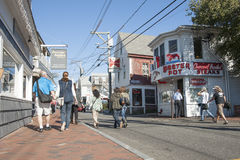 Quaint street in Provincetown Stock Photo