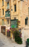 The quaint streets of Valetta, Malta. Royalty Free Stock Photo