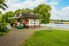 Quaint tea rooms by the riverside Royalty Free Stock Photography