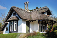 Quaint Thatched English Rural Lodge Stock Images