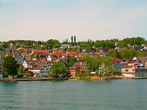 Quaint Village by the River  Royalty Free Stock Photos