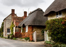 Quaint Village Street. Row of Quaint Cottages in a Rural Village Street in England Royalty Free Stock Images