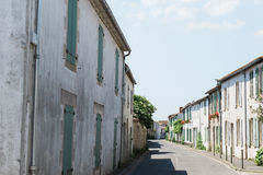Quaint Village Street. In a Rural French Village Royalty Free Stock Photo