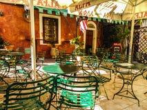 Cafe, Agian Sopias Street. Outdoor cafe on Agias Sophias Street in Greece Royalty Free Stock Photo