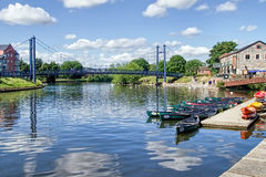 Quais d'Exeter - Devon Photo stock