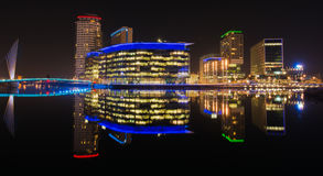 Quais de Salford de ville de media Photo stock