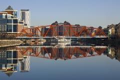 Quais de Salford - Manchester - Royaume-Uni Image libre de droits
