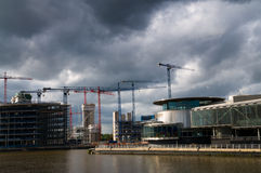 Quais en construction de salford Photographie stock libre de droits