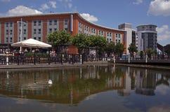 Quais Portsmouth de Gunwharf Images libres de droits