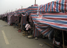 Quake victims. Temporary camp of quake victims in Dujiangyan,west of China Stock Images