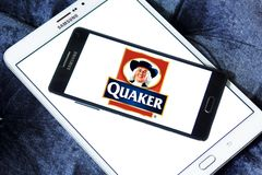 Quaker Oats Company logo. Logo of Quaker Oats Company on  samsung mobile. The Quaker Oats Company, known as Quaker, is an American food conglomerate based in Royalty Free Stock Photography