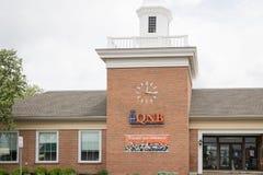 QNB Finance Bank front. Quakertown, Pennsylvania, May 19 2018: QNB Finance Bank front Royalty Free Stock Photo