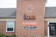 QNB Finance Bank front. Quakertown, Pennsylvania, May 19 2018: QNB Finance Bank front Stock Photo