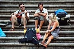 Qualche gente che si siede 135 Fotografia Stock Libera da Diritti