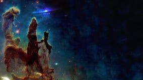 In qualche luogo nello spazio Colonne della creazione Gli elementi di questa immagine sono stati forniti dalla NASA illustrazione vettoriale