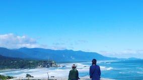 In qualche luogo in Nuova Zelanda Costa ovest fotografie stock
