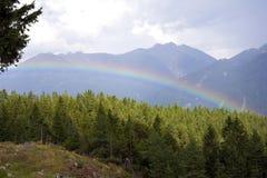 In qualche luogo sopra il Rainbow Fotografia Stock Libera da Diritti