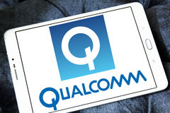 Qualcomm company logo Royalty Free Stock Photos