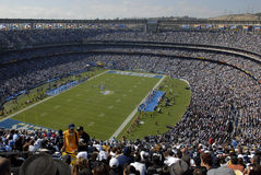 Qualcomm Panoramic. A full house at San Diego's Qualcomm Stadium, home of the Chargers professional football team Stock Image
