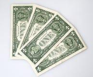 Qualcuno bankbills del dollaro Immagine Stock