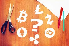 Quale cryptocurrency è migliore da scegliere Fotografia Stock
