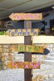 Quale direzione che dovete contenere Ibiza? Fotografia Stock Libera da Diritti
