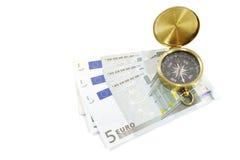 Quale modo per l'euro? Fotografia Stock Libera da Diritti