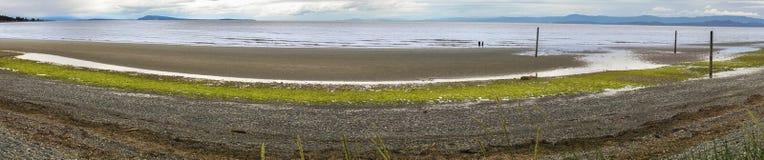Qualicum海滩江边BC温哥华岛加拿大 免版税库存图片