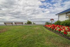 Qualicum Beach boardwalk in the summer Stock Photography