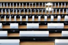 A qualidade controle-Calibra o bloco Fotografia de Stock