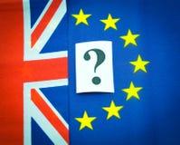 Qualidade de membro do EU BRITÂNICA Foto de Stock
