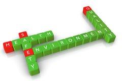 Qualidade do ambiente da saúde da segurança Imagens de Stock Royalty Free