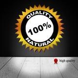 Qualidade do crachá do ouro natural ilustração stock