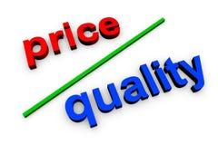 Qualidade do preço Foto de Stock Royalty Free