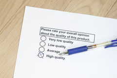 Qualidade do produto Foto de Stock Royalty Free