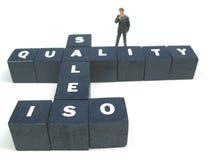 Qualidade e vendas Foto de Stock Royalty Free