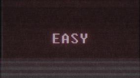 Qualidade nova do laço sem emenda fácil retro da animação da tela do ruído da interferência do pulso aleatório da tevê do computa ilustração stock