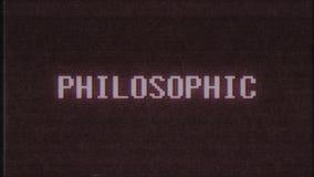 Qualidade nova do laço sem emenda filosófico retro da animação da tela do ruído da interferência do pulso aleatório da tevê do co ilustração stock