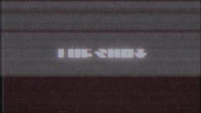 Qualidade nova do laço sem emenda retro da animação da tela do ruído da interferência do pulso aleatório da tevê do computador do ilustração royalty free