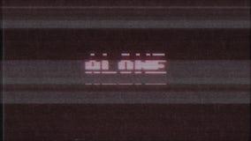 Qualidade nova do laço sem emenda SOZINHO retro da animação da tela do ruído da interferência do pulso aleatório da tevê do compu ilustração stock
