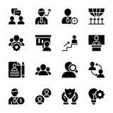 Qualidade pessoal, ícones contínuos da gestão do empregado ilustração do vetor