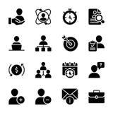 Qualidade pessoal, vetores contínuos da gestão do empregado ilustração royalty free