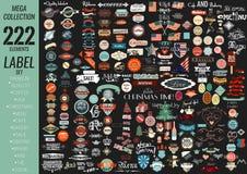 Qualidade superior do grupo de etiquetas, café, padaria, venda, Natal, e, ilustração royalty free