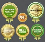 Qualidade superior e a melhor etiqueta bem escolhida. ilustração stock