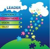 Qualidades do líder ilustração royalty free