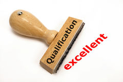 Qualification excellent. Rubber stamp marked with qualification and copy excellent Royalty Free Stock Photo
